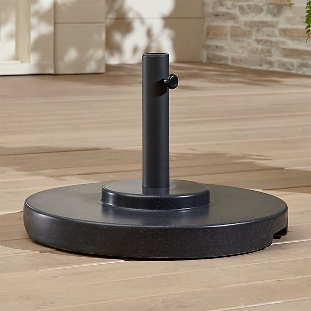 large charcoal umbrella stand with wheels crate and barrel