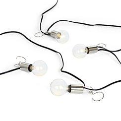 Patio Umbrella Globe LED String Lights