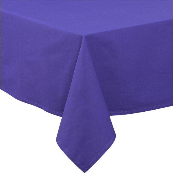 Blue Rectangular Umbrella Tablecloth