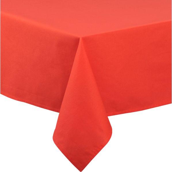 Orange Rectangular Umbrella Tablecloth