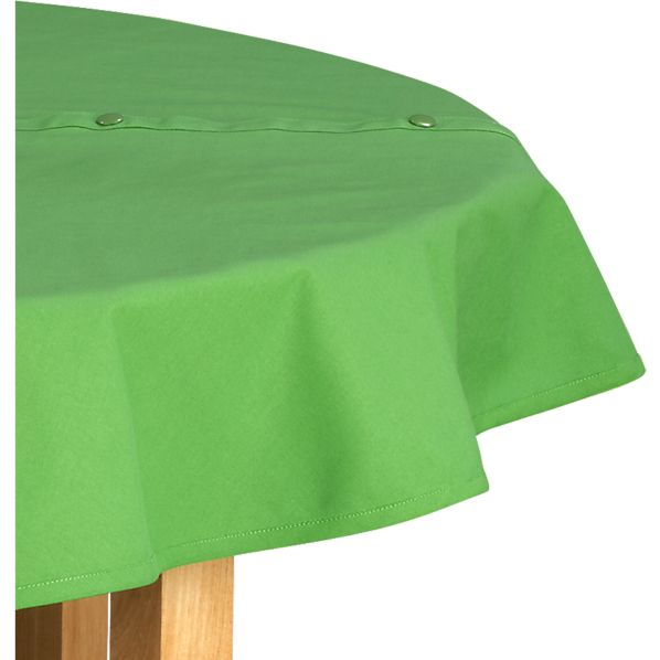 Green Round Umbrella Tablecloth