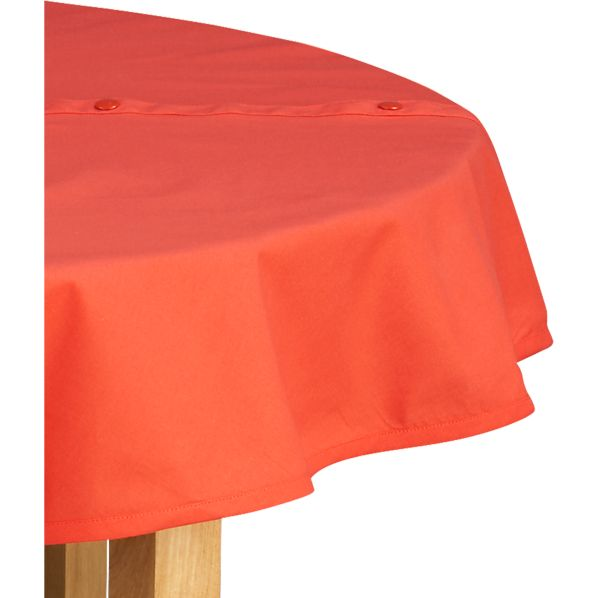 Orange Round Umbrella Tablecloth