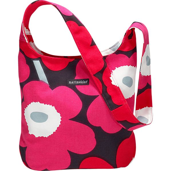 Marimekko Pieni Unikko Clover Red and Black Bag
