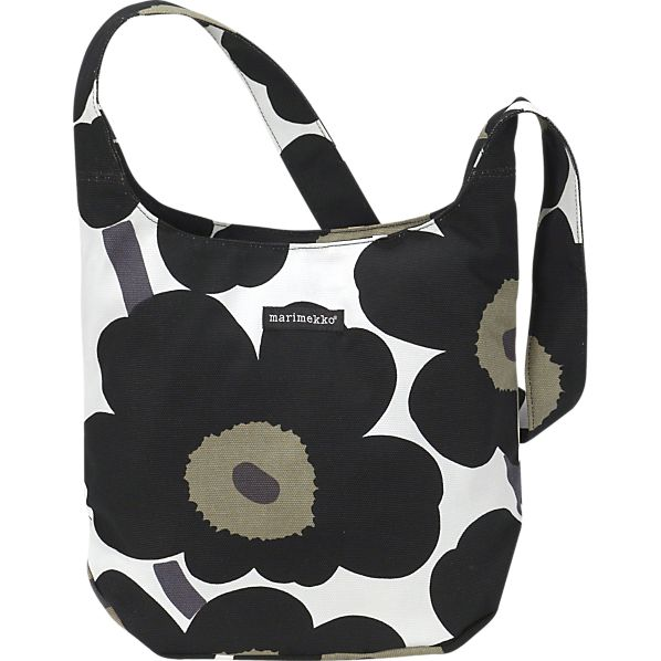 Marimekko Pieni Unikko Clover Black and White Bag