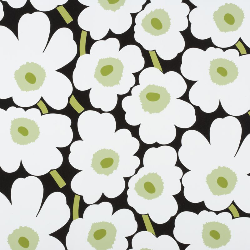 "Designed in 1964 by Maija Isola, the Unikko (""poppy"") design has been the most popular Marimekko print since its introduction. Challenging the common notion of decorative florals, Unikko broke from tradition with its creative pop art interpretation in bold, simplified pattern and bright color. Reproduced here on heavy-duty gift wrap, the pattern remains current while symbolizing the free spirit of its designer and those who admire it.<br /><br /><NEWTAG/><ul><li>Pattern designed by Maija Isola; 1964</li><li>Heavy-duty paper</li></ul><br />"