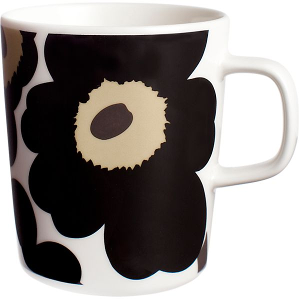 Marimekko Unikko Black Mug
