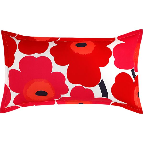 Marimekko Unikko Red King Pillow Sham