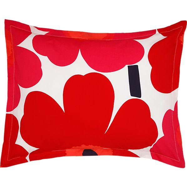 Marimekko Unikko Red Standard Pillow Sham