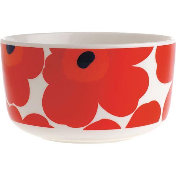 """Marimekko Unikko Red 5"""" Bowl"""