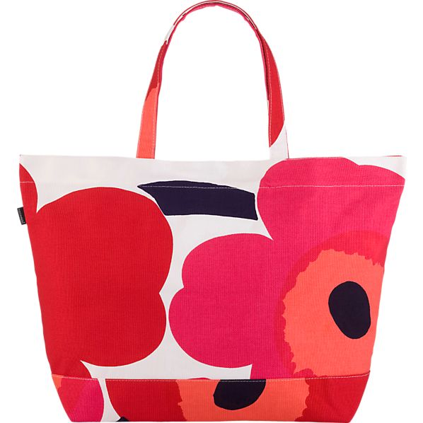 Marimekko Pieni Unikko Red and White Bag
