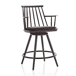 "Union Charcoal 24"" Swivel Counter Stool with Sunbrella ® Cushion"