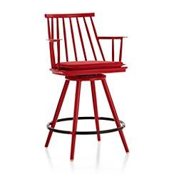 "Union Red 24"" Swivel Counter Stool with Sunbrella ® Cushion"