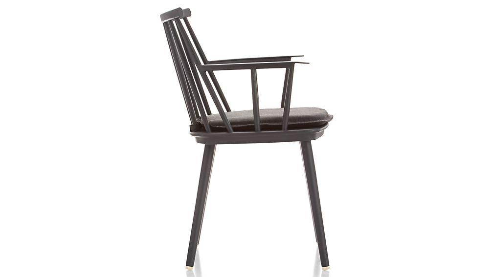 Union Charcoal Dining Arm Chair with Sunbrella ® Cushion