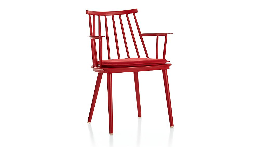 Union Red Dining Arm Chair with Sunbrella ® Cushion
