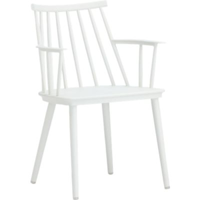 Union White Dining Arm Chair