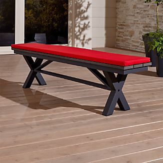 "Union 72"" Trestle Bench with Sunbrella ® Cushion"