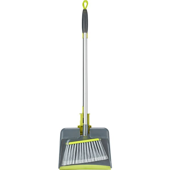 2-Piece Upright Broom and Dustpan Set
