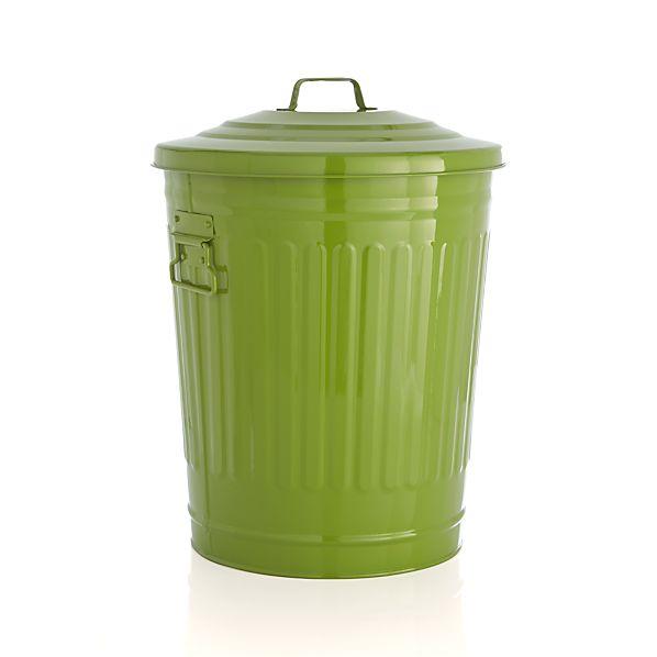 Green Trash Can