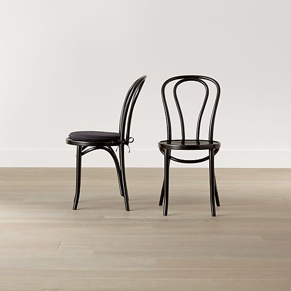 Vienna Black Wood Dining Chair and Cushion
