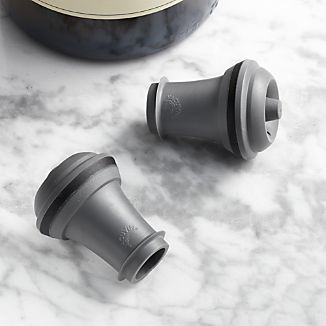 Set of 2 Vacu Vin ® Grey Wine Stoppers
