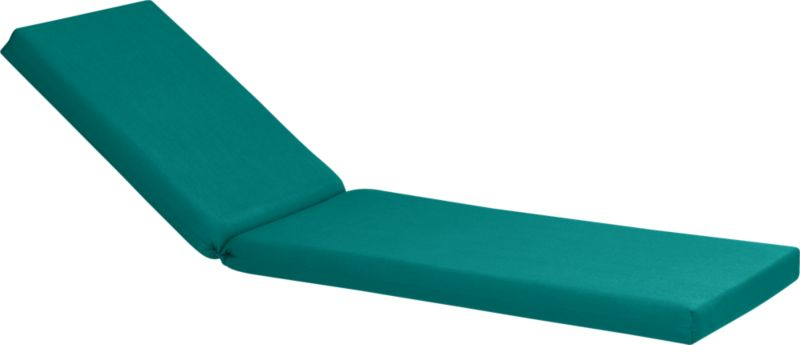 Add extra comfort to Valencia chaise lounge with fade-, water- and mildew-resistant Sunbrella® acrylic cushion in deep harbor blue. Fabric tab fasteners hold cushion in place.<br /><br /><NEWTAG/><ul><li>Fade- and mildew-resistant Sunbrella acrylic</li><li>Polyurethane foam cushion fill</li><li>Fabric tab fasteners</li><li>Spot clean</li><li>Made in USA</li></ul>