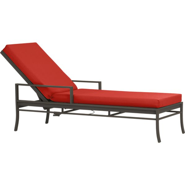 Valencia Chaise Lounge with Sunbrella ® Caliente Cushion