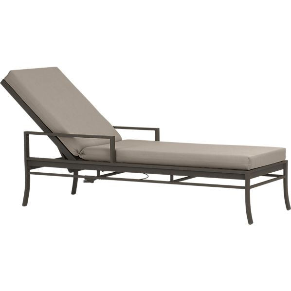 Valencia Chaise Lounge with Sunbrella ® Stone Cushion