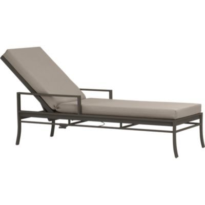 Valencia Chaise Lounge with Sunbrella® Stone Cushion