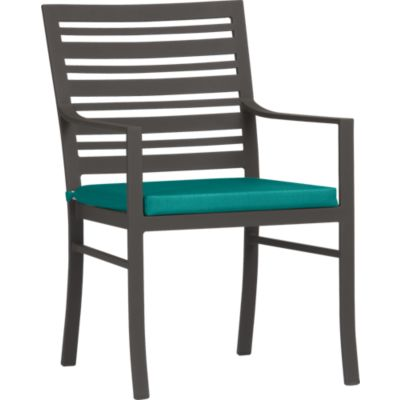 Valencia Dining Chair with Sunbrella® Harbor Blue Cushion