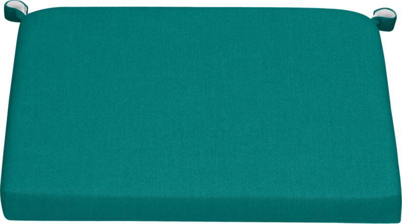 Add extra comfort to Valencia dining seating with fade-, water- and mildew-resistant Sunbrella® acrylic cushions in deep harbor blue. Fabric tab fasteners hold cushion in place.<br /><br /><NEWTAG/><ul><li>Fade- and mildew-resistant Sunbrella acrylic</li><li>Polyurethane foam cushion fill</li><li>Fabric tab fasteners</li><li>Spot clean</li><li>Made in USA</li></ul>