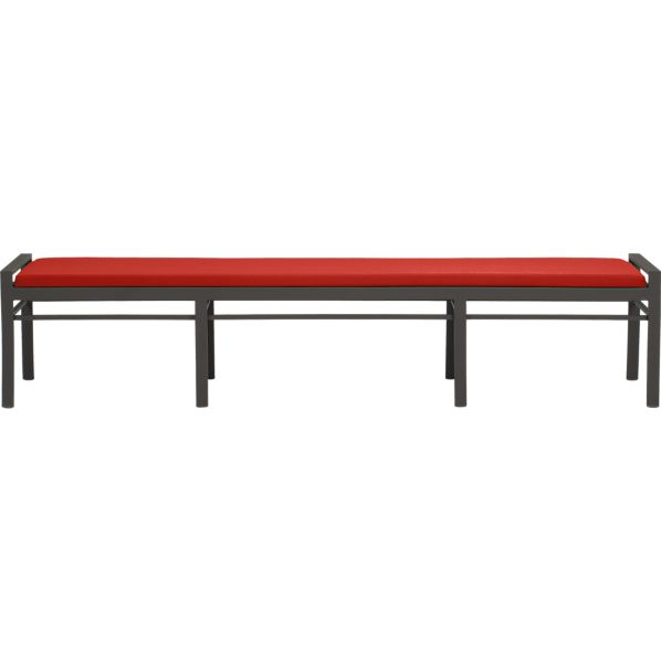 Valencia Large Dining Bench with Sunbrella ® Caliente Cushion