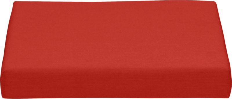 Optional lounge chair cushion is covered in fade- and mildew-resistant Sunbrella acrylic in caliente. Fabric tab fasteners hold cushion in place.<br /><ul><li>Fade- and mildew-resistant Sunbrella acrylic</li><li>Polyfoam insert</li><li>Spot clean</li><li>Made in USA</li></ul><NEWTAG/>