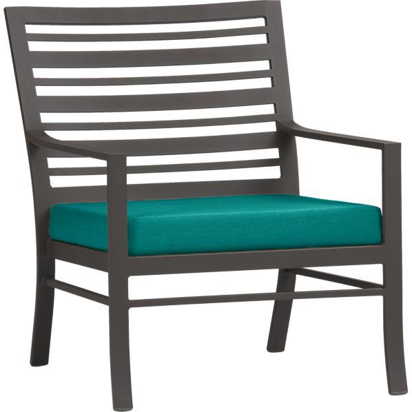 Valencia Lounge Chair with Sunbrella ® Harbor Blue Cushion