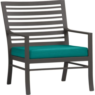 Valencia Lounge Chair with Sunbrella® Harbor Blue Cushion