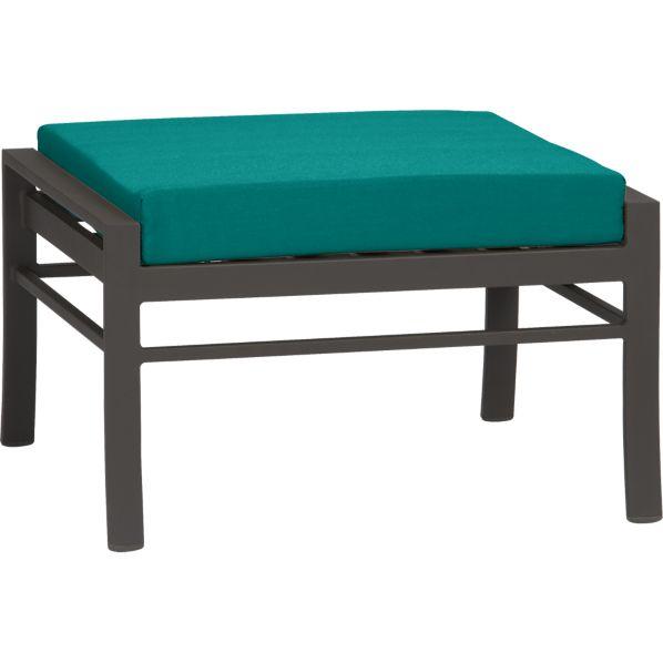 Valencia Ottoman with Sunbrella ® Harbor Blue Cushion
