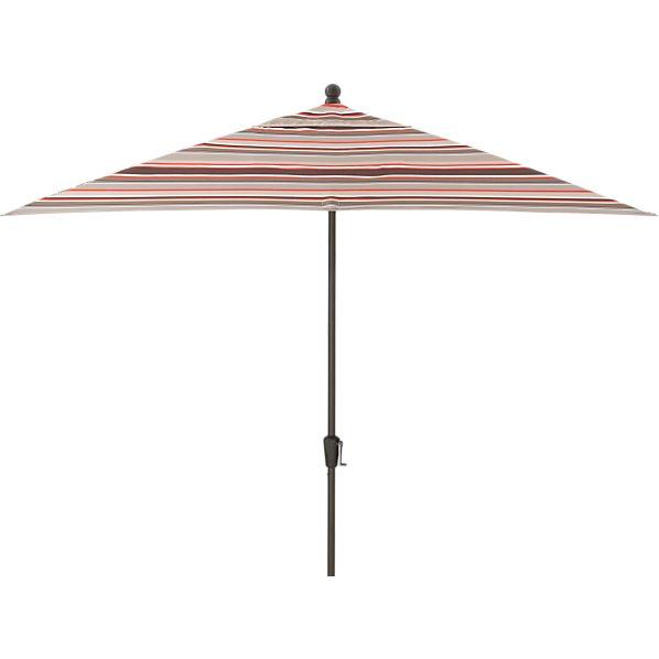 Rectangular Sunbrella ® Valencia Stripe Umbrella with Bronze Frame