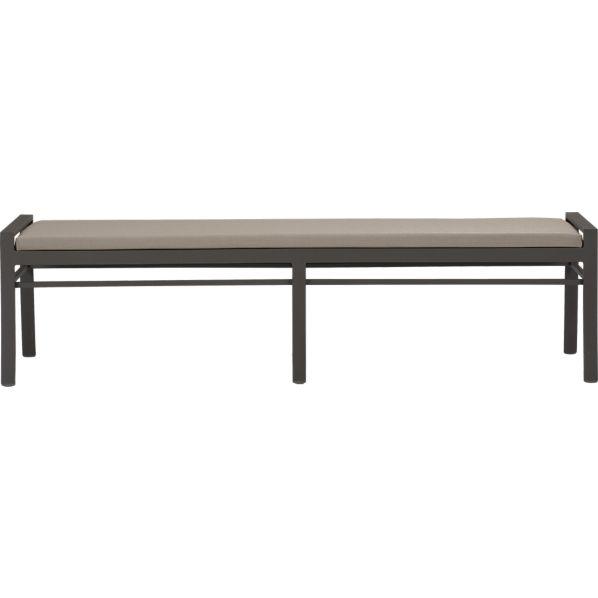 Valencia Small Dining Bench with Sunbrella ® Stone Cushion
