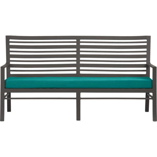 Valencia Sofa with Sunbrella ® Harbor Blue Cushion