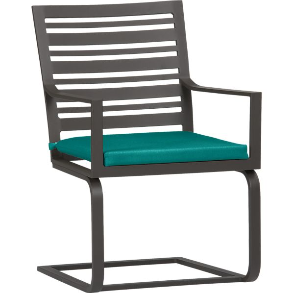 Valencia Spring Dining Chair with Sunbrella ® Harbor Blue Cushion