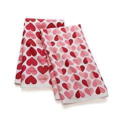Set of 2 Valentine Heart Dish Towels