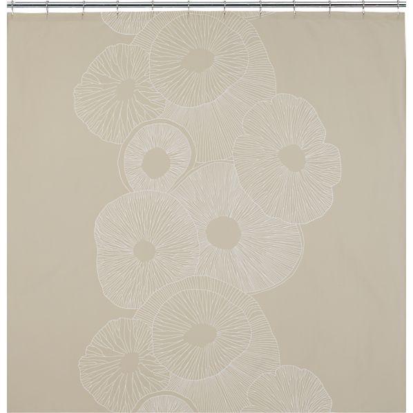 Marimekko Valmuska Almond Shower Curtain