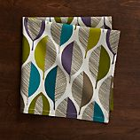 Variegated Leaves Cloth Dinner Napkin
