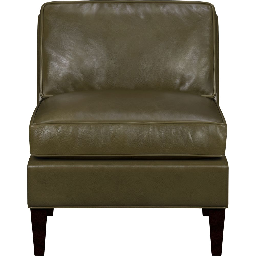 Furniture living room furniture leather chair low for Crate and barrel armless chair
