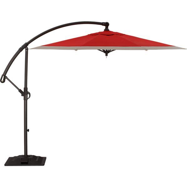 10' Round Sunbrella ® Caliente Banded Free-Arm Umbrella with Base