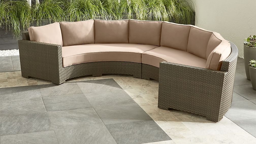 Ventura Umber Round 2-Piece Sectional with Sunbrella ® Cushions