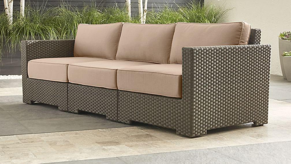 Ventura Umber 3-Piece Sofa Sectional with Sunbrella ® Cushions