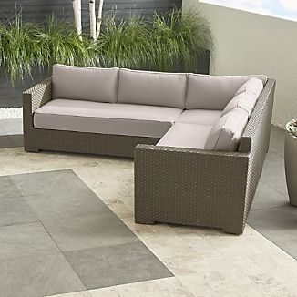VVentura Umber 3-Piece Loveseat Sectional with Sunbrella ® Cushions