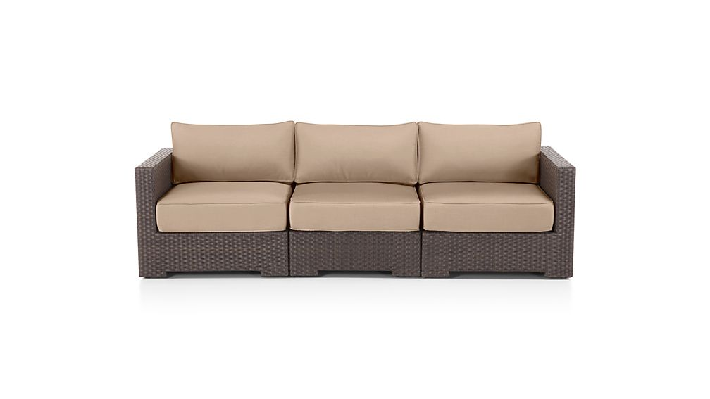 Ventura Umber 3 Piece Sofa Sectional with Sunbrella