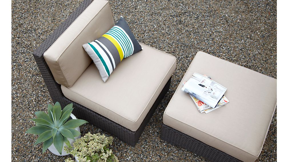 Ventura Modular Armless Chair with Sunbrella ® Cushions