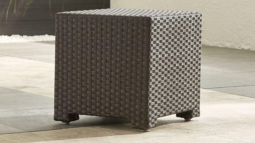ventura umber bunching table crate and barrel. Black Bedroom Furniture Sets. Home Design Ideas